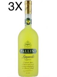 (3 BOTTLES) Pallini - Limoncello - 100cl - 1 Litro