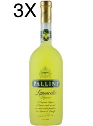 (3 BOTTIGLIE) Pallini - Limoncello - 100cl - 1 Litro