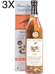 (3 BOTTIGLIE) François Peyrot - Cognac al Mandarino - Astucciato - 70cl