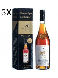 (3 BOTTIGLIE) François Peyrot - Cognac VSOP - Astucciato - 70cl
