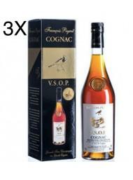 (3 BOTTLES) François Peyrot - Cognac VSOP - 70cl