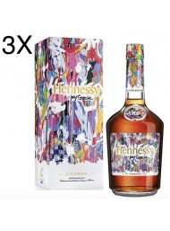 (3 BOTTLES) Hennessy - Cognac V.S - Limited Edition by JonOne - 70cl