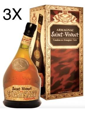 (3 BOTTLES) Saint Vivant - Armagnac - 70cl