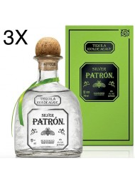 (3 BOTTLES) Patron - Tequila Silver - 100cl