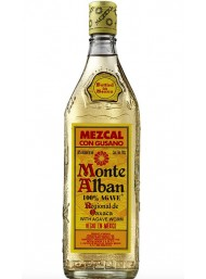 Monte Alban - Mezcal - 100% Agave - Gusano - Agave Worm - 70cl