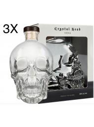 (3 BOTTIGLIE) Vodka Crystal Head - 70cl - Astucciata