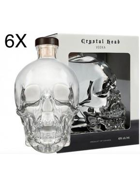(6 BOTTLES) Vodka Cristal Head - 70cl - Gift Box