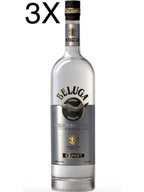(3 BOTTLES) Beluga - Noble Russian Vodka - 100cl