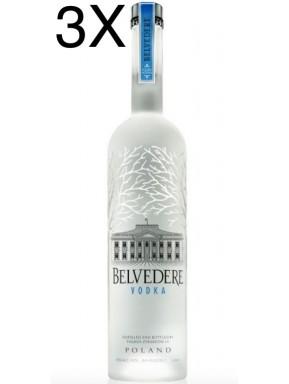 (3 BOTTLES) Belvedere - Vodka - 100cl