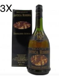 (3 BOTTIGLIE) Distilleria Aurum - Brandy Antica Riserva 10 anni - 70cl