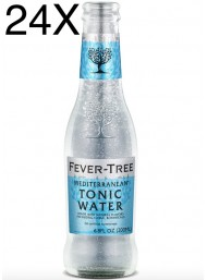24 BOTTIGLIE - Fever Tree Mediterranean - Premium Natural Mixers Mediterranen Tonic Water - Acqua Tonica - 20cl