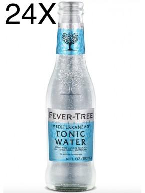 24 BOTTLES - Fever Tree Mediterranean - Premium Natural Mixers Mediterranen Tonic Water - 20cl