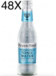 48 BOTTLES - Fever Tree Mediterranean - Premium Natural Mixers Mediterranen Tonic Water - 20cl