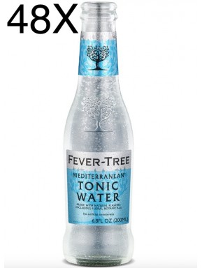 48 BOTTIGLIE - Fever Tree Mediterranean - Premium Natural Mixers Mediterranen Tonic Water - Acqua Tonica - 20cl