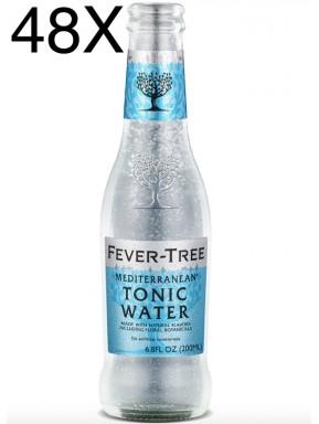 48 BOTTLES - Fever Tree Mediterranean - Premium Natural Mixers Mediterranen Tonic Water - 20cl