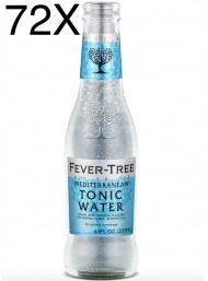72 BOTTIGLIE - Fever Tree Mediterranean - Premium Natural Mixers Mediterranen Tonic Water - Acqua Tonica - 20cl