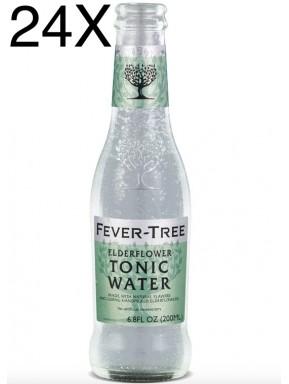 24 BOTTLES - Fever Tree - Elderflower - Premium Natural Mixers - Tonic Water - 20cl