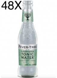 48 BOTTIGLIE - Fever Tree - Elderflower - Fiori di Sambuco - Premium Natural Mixers - Acqua Tonica - 20cl