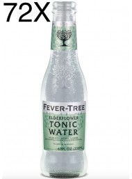 72 BOTTIGLIE - Fever Tree - Elderflower - Fiori di Sambuco - Premium Natural Mixers - Acqua Tonica - 20cl