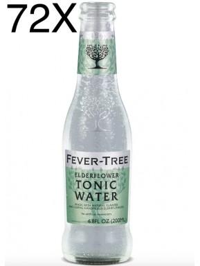72 BOTTLES - Fever Tree - Elderflower - Premium Natural Mixers - Tonic Water - 20cl