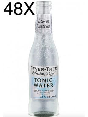 48 BOTTIGLIE - Fever Tree - Refreshingly Light - Naturally Light Tonic Water - Acqua Tonica - 20cl