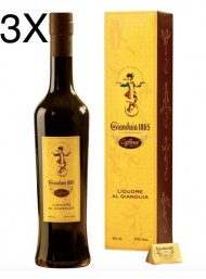 (3 BOTTLES) Caffarel - Liquore Gianduia - 50cl