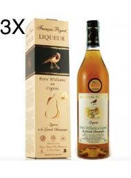 (3 BOTTLES) Francois Peyrot - Cognac alle Pere Williams - Gift Box - 70cl