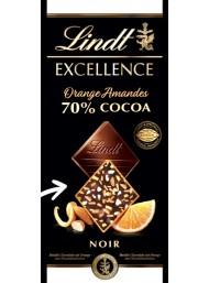 (3 BARS X 100g) Lindt - Excellence - Orange Amandes - NEW