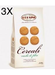 """(3 CONFEZIONI X 350G) Corsini - Biscotti """"Cereali"""" -"""