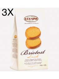 (3 PACKS) Corsini - Briotost Rusks with Honey - 250g