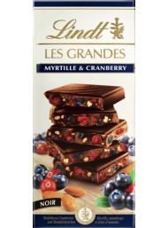 Lindt - Les Grandes - Myrtille and Cranberry - 150g - NEW