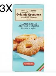 (3 PACKS) Grondona - Canestrelli Antica Genova - 200g