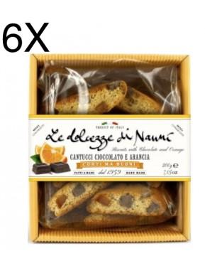(6 PACKS) Nanni - Cantucci Chocolate and Orange - 200g