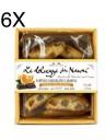 (6 CONFEZIONI X 200g) Nanni - Cantucci Cioccolato e Arancio