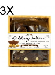 (3 PACKS) Nanni - Cantucci Almond and Cocoa - 200g
