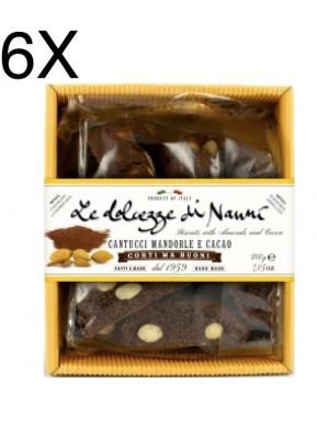 (6 CONFEZIONI X 200g) Nanni - Cantucci Mandorle e Cacao