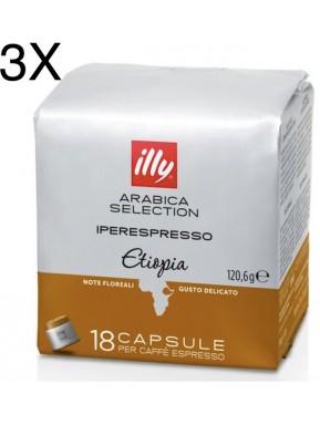 (3 PACKS) Illy Monoarabica Ethiopia - 54 Capsule