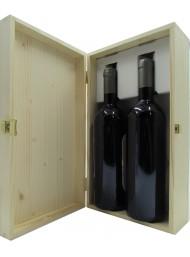 """Cassetta Legno Corso101 - 2 Bottiglie """"Bordolesi"""""""