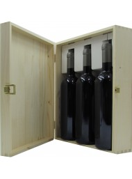 """Cassetta Legno Corso101 - 3 Bottiglie """"Bordolesi"""""""