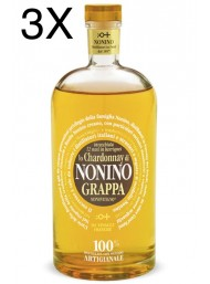 (3 BOTTIGLIE) Nonino - Grappa Chardonnay Barriques - 12 Mesi -  Limited Edition - 70cl