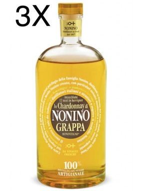 (3 BOTTLES) Nonino - Grappa Chardonnay Barriques - 12 Months -  Limited Edition - 70cl