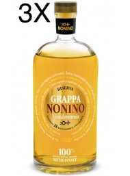 (3 BOTTLES) Nonino - Grappa Vendemmia Barriques - Reserve 18 Months - 70cl