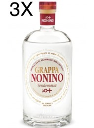 (3 BOTTLES) Nonino - Grappa Vendemmia White - 70cl