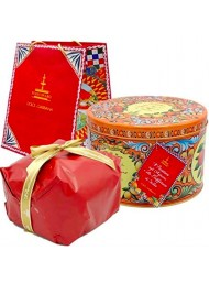 (3 PANETTONI X 500g) Fiasconaro - Dolce & Gabbana - Panettone Candied Citrus and Saffron - Limited Edition