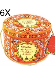 (6 PANETTONI X 500g) Fiasconaro - Dolce & Gabbana - Panettone Candied Citrus and Saffron - Limited Edition