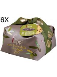 (6 PANETTONI X 1000g) Filippi - Chocolate Olive Oil