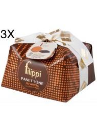 (3 PANETTONI X 1000g) Filippi - Orange & Chocolate