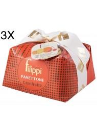 (3 PANETTONI X 1000g) Filippi - Panettone Granfrutta