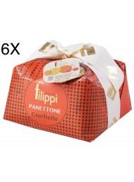 (6 PANETTONI X 1000g) Filippi - Panettone Granfrutta