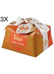 (3 PANETTONI X 1000g) Filippi - Apricot